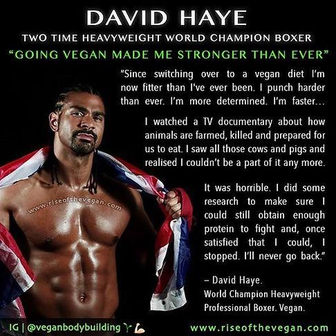 Vegan Athlete David Haye
