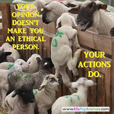 Being vegan is ethical