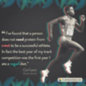 Vegan Athlete Carl Lewis