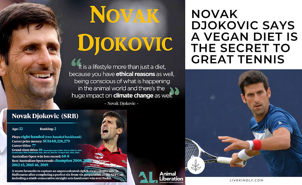 Novak Djokovic Vegan