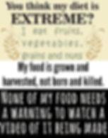Vegan Diet Extreme