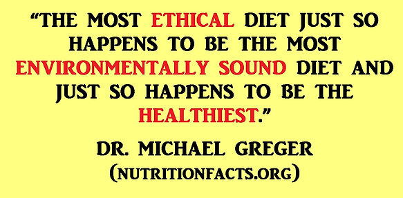 The most ethical diet is vegan