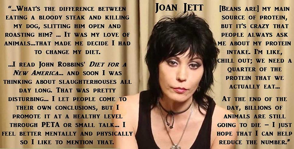 Joan Jett is vegan