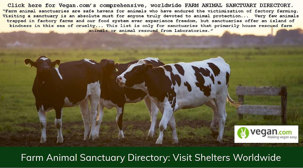 Farm Animal Sanctuary Directory - Vegan.