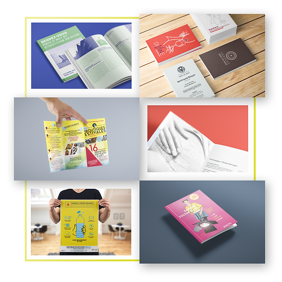 Impression brochure, carte de visite, flyer, dépliant, affiche