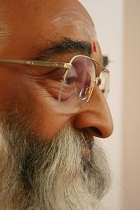 Wax figure Swami Chinmayananda