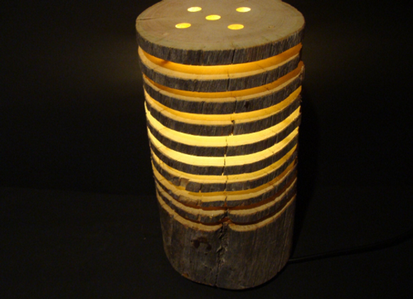 "wooden table lamp ▸ made of Kelo ""dead"" wood 1"