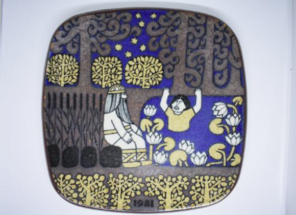 Arabia Finnland ▸ wall plate from 1981 - Design: Raija Uosikkinen