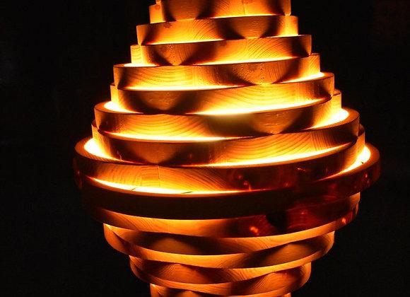 Wooden hanging lamp ▸ Scandinavian
