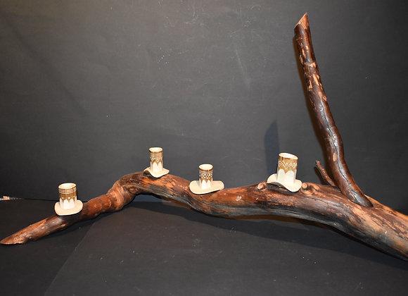 Advent decoration made from birch root/Adventsdekoration aus Birkenwurzel