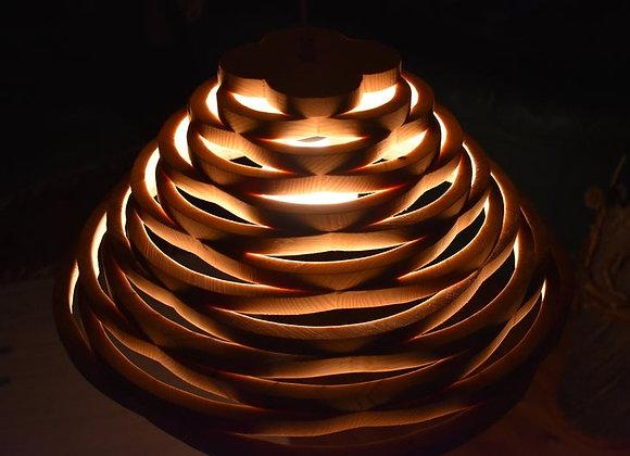 Wooden hanging lamp ▸ Scandinavian 2