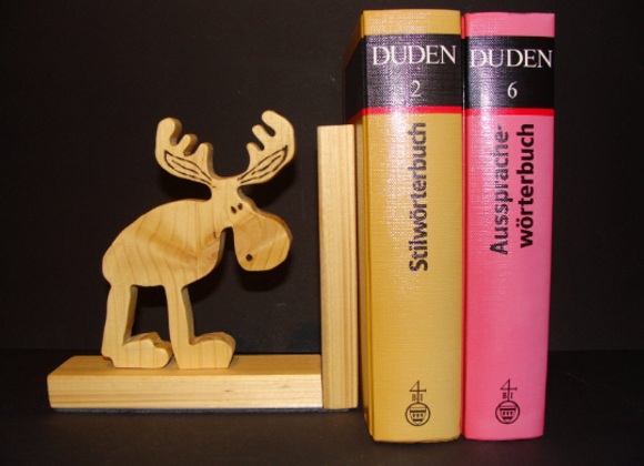 wooden bookend ▸ Moose motive 2