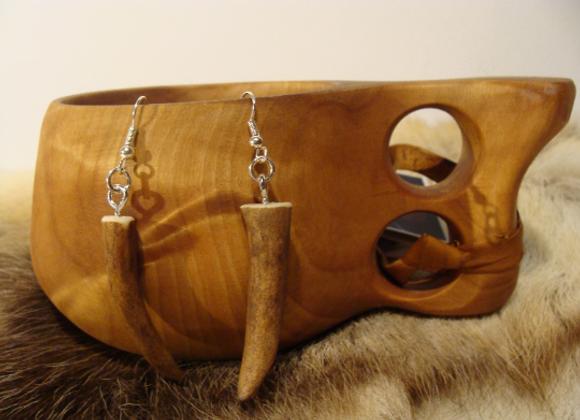 Earrings ▸ made of reindeer antler tips