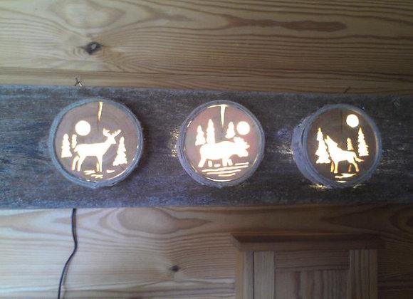 wooden scene lamp ▸ Nordic style 2