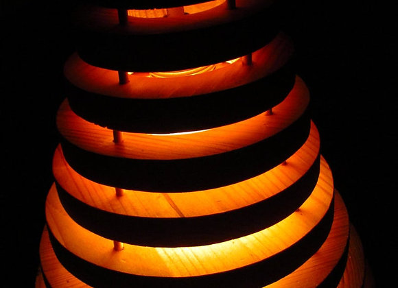 Wooden hanging lamp ▸ made of pine rings 1