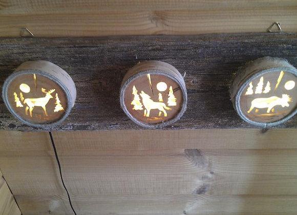 wooden scene lamp ▸ Nordic style 1
