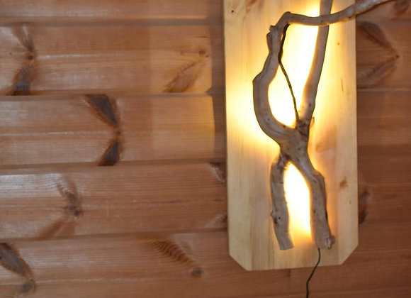 wooden branch wall lamp▸with LED 3