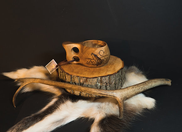 """Kuksa with animal picture ▸ """"Wolf"""" 2 - 180 ml/6 oz"""