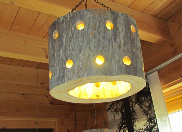 "Wooden hanging lamp ▸ made of Kelo ""dead"" wood"