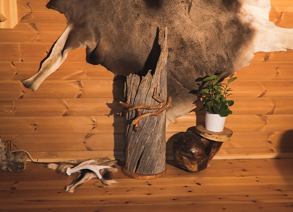 "Beautiful floor polar-lamp ▸ made of Kelo ""dead"" wood"