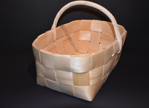 Shopping basket ▸ made of Finnish pine chip