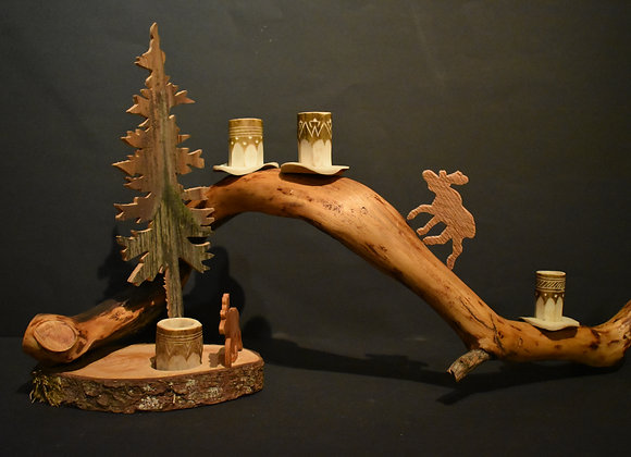Geweihkerzenhalter/Antler candle holder 2