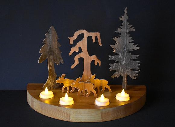 Weihnachtslandschaft mit Rentieren/Nordic Christmas landscape with reindeers 5