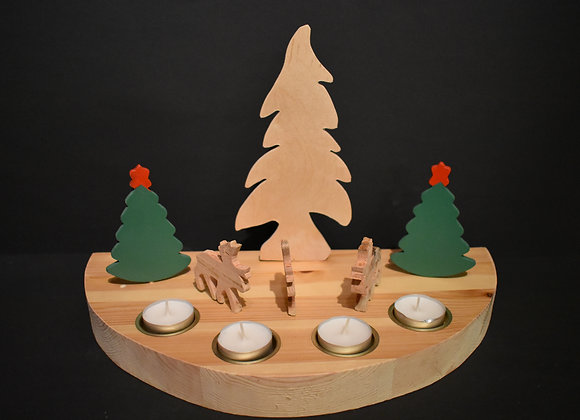 Weihnachtslandschaft mit Rentieren/Nordic Christmas landscape with reindeers4