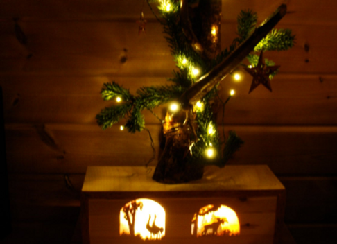 Illuminated box ▸ for festive season