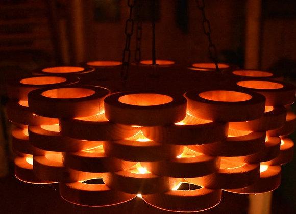 """Wooden hanging lamp - Scandinavian style ▸ """" Lahti"""""""