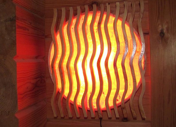 wooden wall lamp ▸ made of pine wood