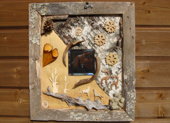 Nordic motifs ▸ in weathered frame