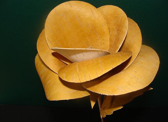 """handgemachte """"Rose"""" aus lappländischer Birkenrinde"""