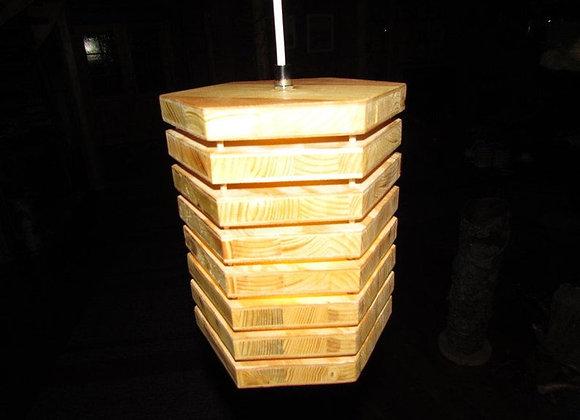 Wooden hanging lamp ▸ hexagon