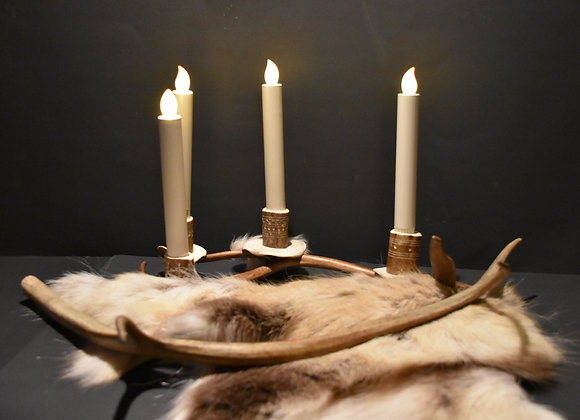 Geweihkerzenhalter/Antler candle holder