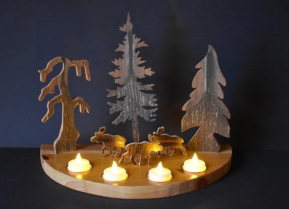 Weihnachtslandschaft mit Rentieren/Christmas landscape with reindeers 8