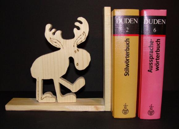 wooden bookend ▸ moose motive 3