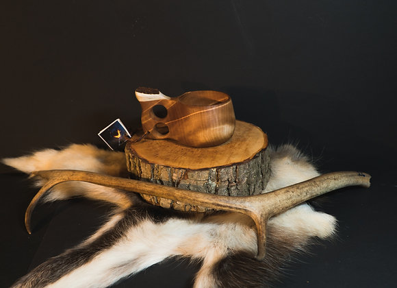 Kuksa with moose antler ▸ and coaster - 180 ml/6 oz