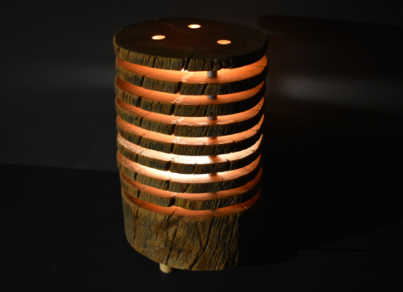 "wooden table lamp ▸ made with Kelo ""dead"" wood 2"