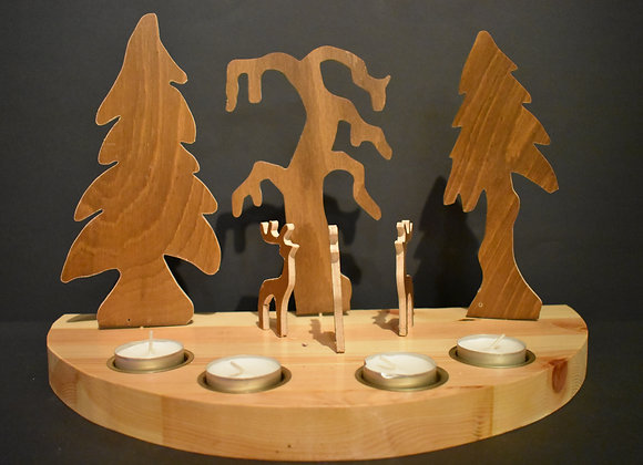 Weihnachtslandschaft mit Rentieren/Nordic Christmas landscape with reindeers2