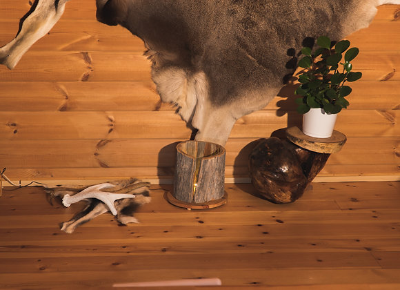 """Wooden floor lamp - with LED 1▸ made of Kelo """"dead"""" wood"""