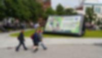 inflatable billboard belfast city hall