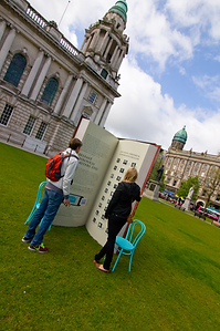 giant book belfast city hall