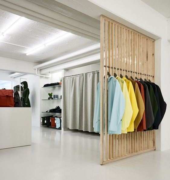 Mobiliario minimalista Vitrina creativa