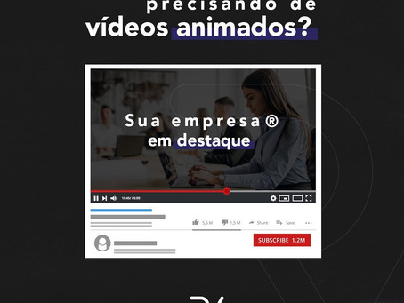 Precisando de vídeos animados para a sua empresa? Conte com a RV Filmes!