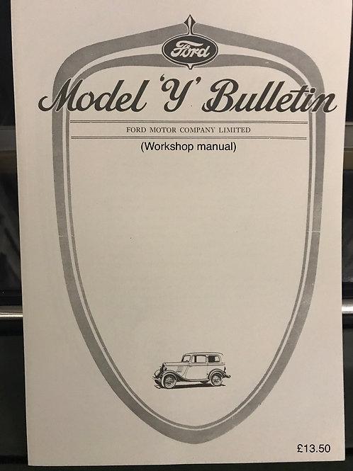 R - (15) Model Y bulletin (model Y workshop manual)  reprint