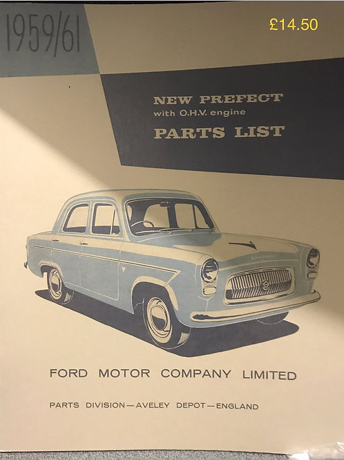 R - (9) New 107E Prefect parts list 1959/61 (reprint)