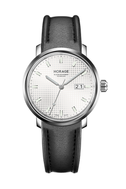 White / 3 Hands / Leather Strap