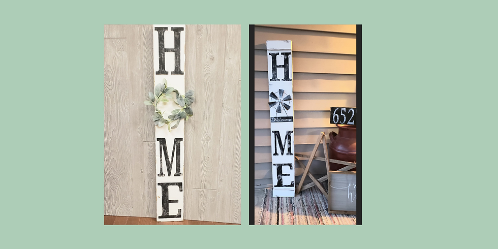 Home Sign - Saturday, April 17th @ 6 PM