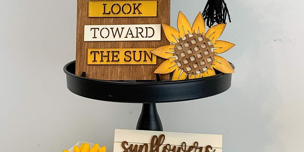 Sunflower Theme Tier Tray - Wednesday June 30th @ 6 PM